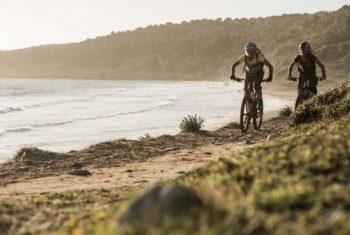Radfahren am Strand von Mallorca